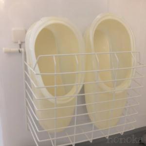 100均でつくるお風呂ブーツ(スリッパ)の収納