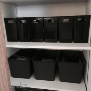 キッチンパントリーの100均グッズを使った収納