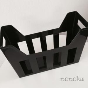 セリアのA4ファイルボックス(ブラック)